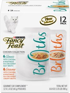 Fancy Feast Classic Collection Broths Variety Pack Complement Cat Food