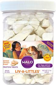 Halo Liv-a-Littles Grain-Free 100% Chicken Breast Freeze-Dried Dog & Cat Treats