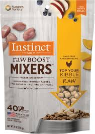 Instinct Raw Boost Mixers Chicken Recipe Grain-Free Freeze-Dried Cat Food Topper