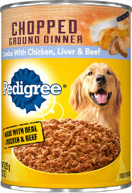 Pedigree Chopped Ground Dinner Combo With Chicken, Beef & Liver