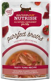 Rachael Ray Nutrish Purrfect Broths All Natural Grain-Free Tasty Tuna Recipe Cat Food Topper