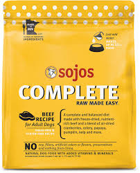 Sojos Complete Beef Recipe Adult Grain-Free Freeze-Dried Dehydrated Dog Food