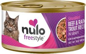 Nulo Freestyle Shredded Chicken & Duck, Shredded Beef & Rainbow Trout