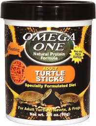 Omega One Adult Turtle Floating Sticks Food