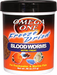 Omega One Freeze-Dried Blood Worms Freshwater & Marine Fish Treat