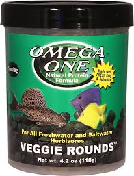 Omega One Sinking Veggie Rounds Freshwater & Saltwater Fish Food
