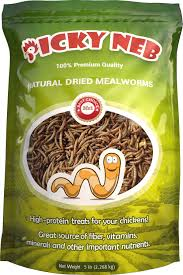 Picky Neb Whole Mealworms Chicken Treat