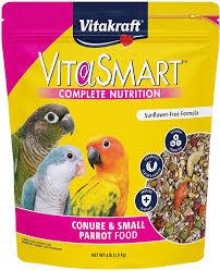 Vitakraft VitaSmart Complete Nutrition Conure & Small Parrot Food