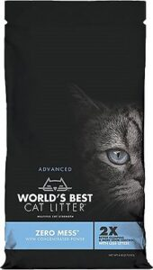 Zero Mess by World's Best Unscented Clumping Corn Cat Litter