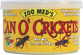 Zoo Med Can O' Crickets Reptile & Bird Food