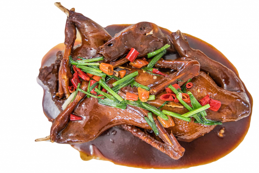 Soy sauce with meat for dog